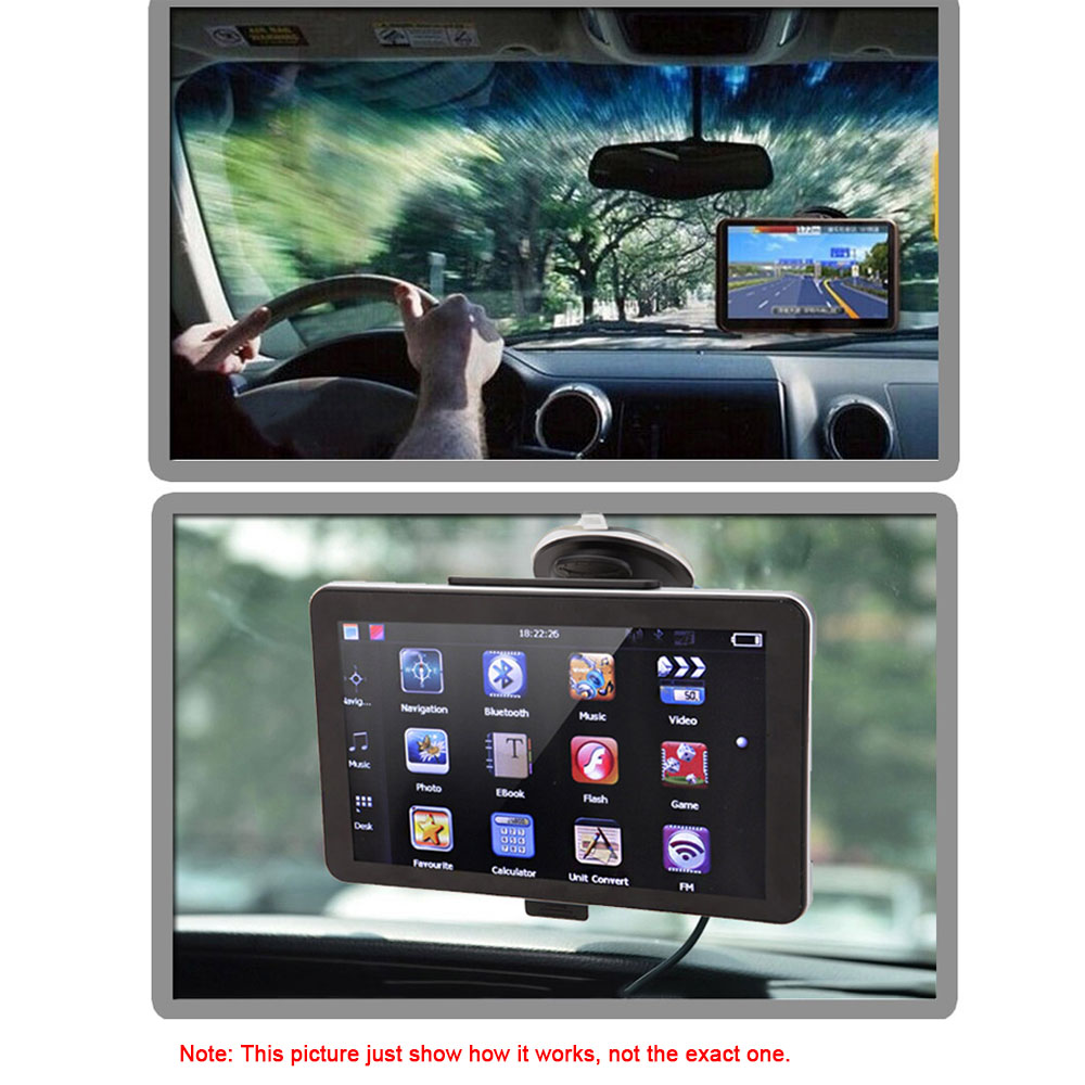 "5"" HD Car GPS Navigation Nav 128MB/4GB DDR3 FM USB TF Video Back Support Map English/French/Italian/Portuguese/Russian/Ukrainian(China (Mainland))"