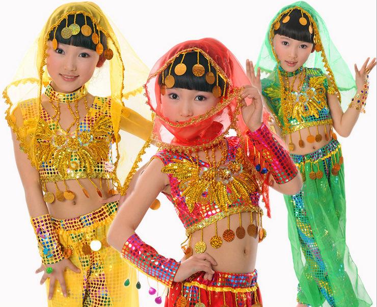 Childrens Indian Fancy Dress Costumes Set Children Fancy Dress