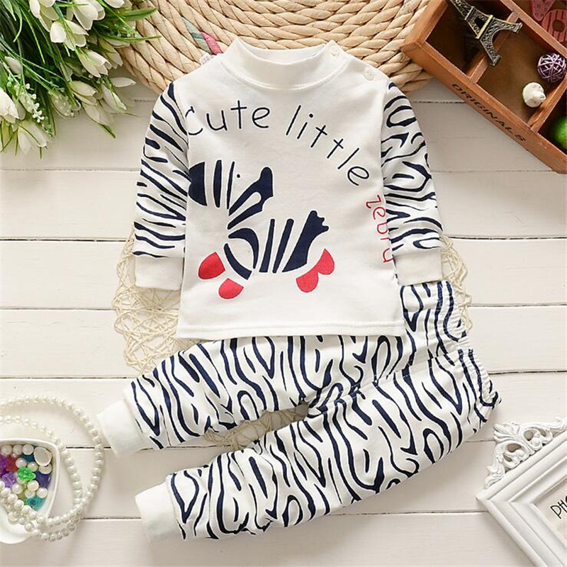 2pcs/ sets zebra clothes pants newborn little horse Kids boys girls set Baby children clothing toddler suit costume Casual full(China (Mainland))