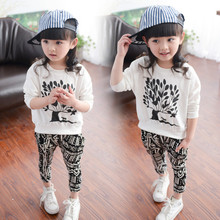 2015 fashion Baby Girls boys 2 Piece body Suits T shirt + pants harem trouser Summer autumn Sets Girls Clothing children outfits(China (Mainland))