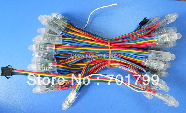 12mm WS2801 pixel module,IP66;DC5V input;full color;50pcs a string