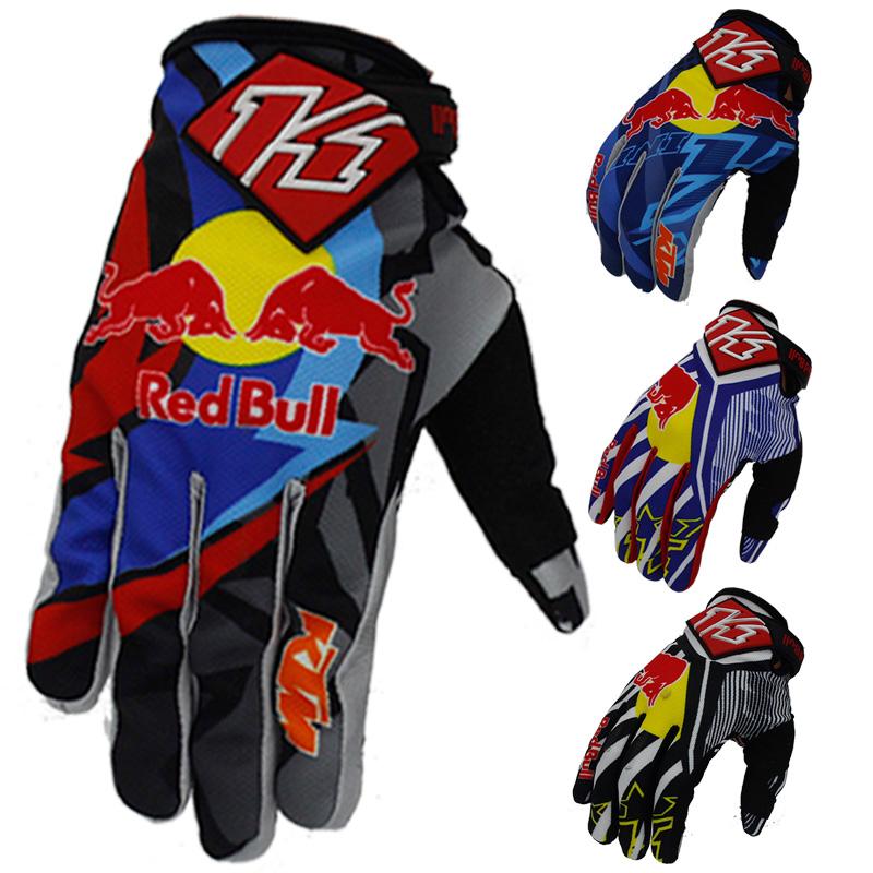 2016 new fashion KTM RED/BULL gloves motorcycle racing gloves full finger anti-Slip blue b free shipping(China (Mainland))