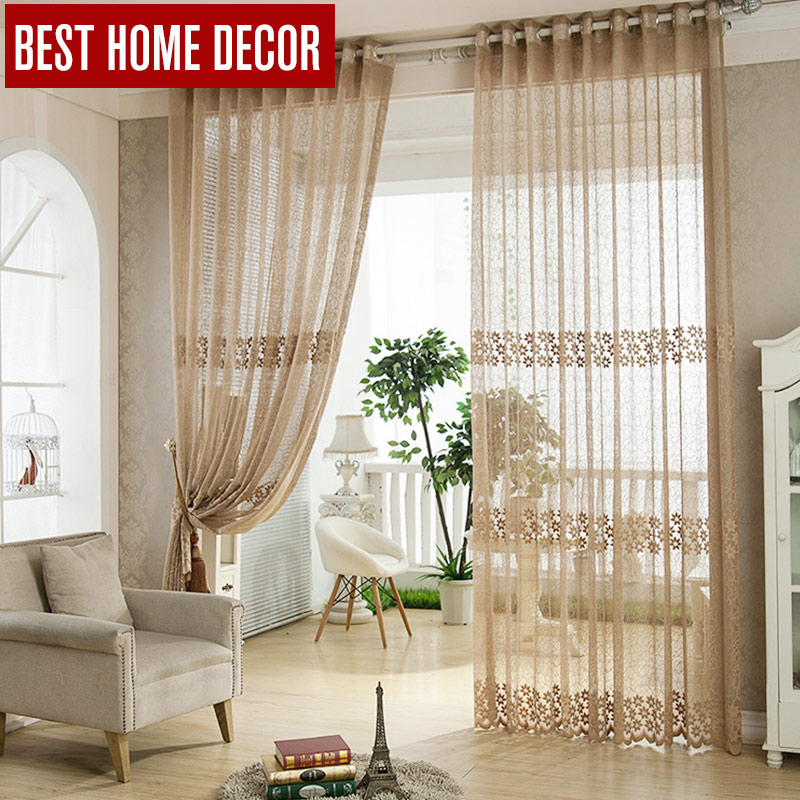 Buy best home decor tulle sheer window curtains for living room the bedroom - Modern living room curtains photos ...