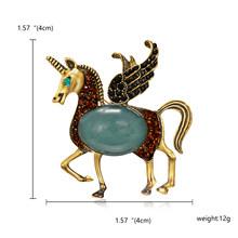 Smalto Giraffe Cavallo Spille per Le Donne Spilla Simpatico Animale Spille Gioelleria raffinata e alla moda Oro Regalo di Colore Per I Bambini Squisita Spilla(China)
