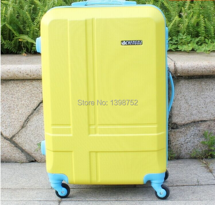 2014 new men ABS travel bags women suitcase universal wheels trolley rolling luggage bag Mute 20 24 28