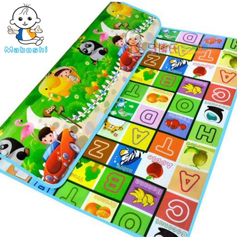 Authorized Authentic Maboshi Baby Play Mat Fruit Letter Zoo Kids Children Beach Picnic Carpet Crawl CM-016 - Cute Zone store
