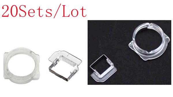 (5G100220AM)(20Sets/Lot)100% High Quality Guarantee for iPhone 5 5C 5S Light Sensor&Front Camera Bezel Holder Clip Ring Bracket
