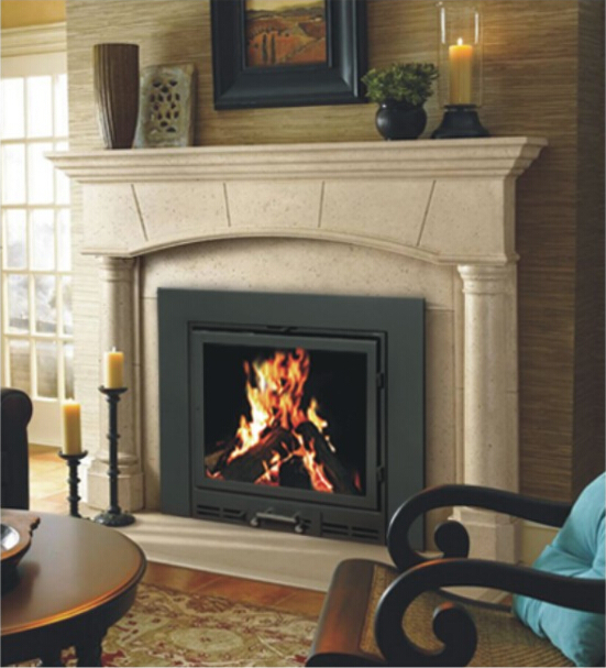 Yn 020 Metal Cast Iron Wood Burning Fireplace With Chimney Pipe In Fireplaces From Home