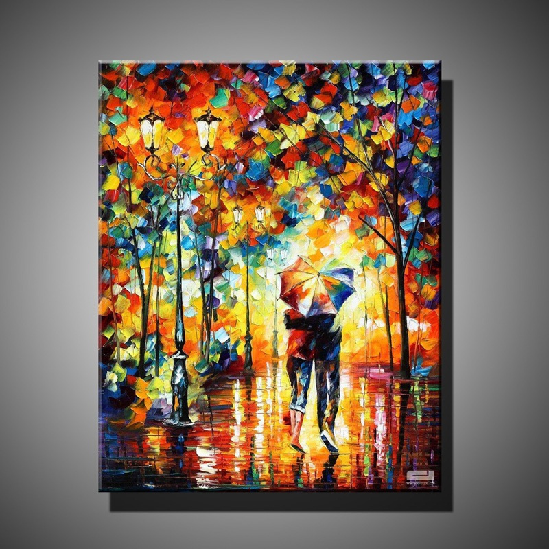 Handmade oil painting on canvas modern 100 best art for Best canvas painting images