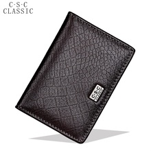 Buy Alligator Real Cowhide Genuine Leather ID Credit Card Holders Coins Wallet Mens Womens Porte Carte business card holder card for $6.00 in AliExpress store