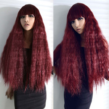 Hot Fashion Multi-Color Hand Weave Hair Curly Wave Full Wigs Anime Cosplay Party
