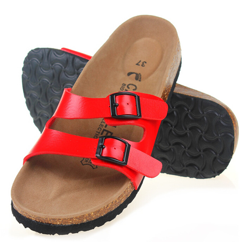 Free Shipping New 2015 Summer Women Flats Birkenstock Sandals Cork Slippers Casual Outdoor Shoes Buckle Beach Shoes Plus Size<br><br>Aliexpress