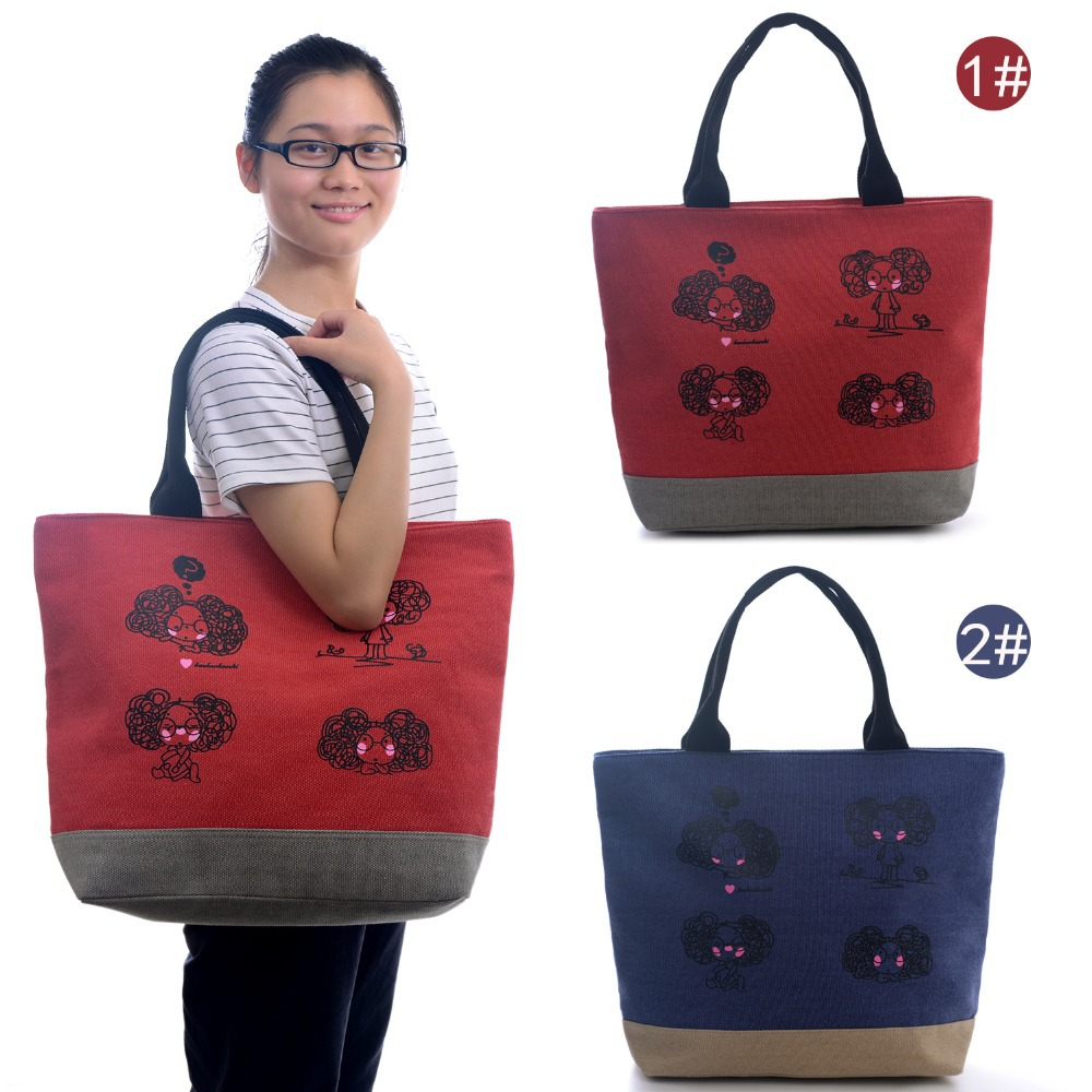 Blue Red Oxford Storage Travel Casual Handbags Hobo Tote Shopper Carpet Shoulder Bags For Women Girls 18*14inch 45*35cm New(China (Mainland))