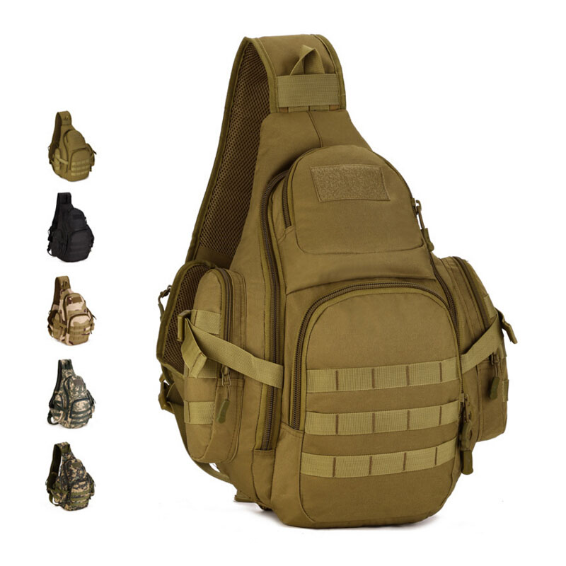 Field Tactical Chest Sling Bag Outdoor Sport One Single Shoulder Bag Men Big Large Ride Travel Bag Military Chest Packs for Man(China (Mainland))