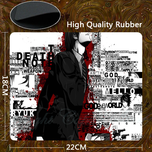 Hot Selling Portable New Optical Mouse Wrist Comfort Mouse Pad Mat For Death Note Series(China (Mainland))