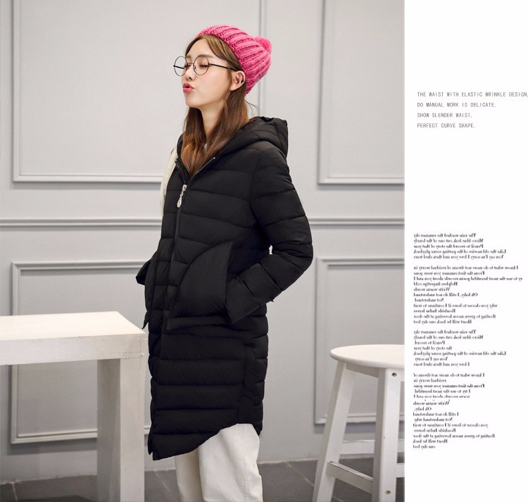 2016 new arrival winter hot sell cotton coat women fashion long women's winter jackets causal simple solid color winter coat