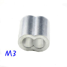 50pcs M3 Aluminium Ferrule 8-shaped holes Cable Crimps for Crimping Wire Rope(China (Mainland))
