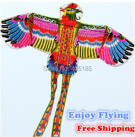 2015NEW Outdoor Fun Sports Power Phoenix / Animal Kites With Handle And String Good Flying Free Shipping(China (Mainland))