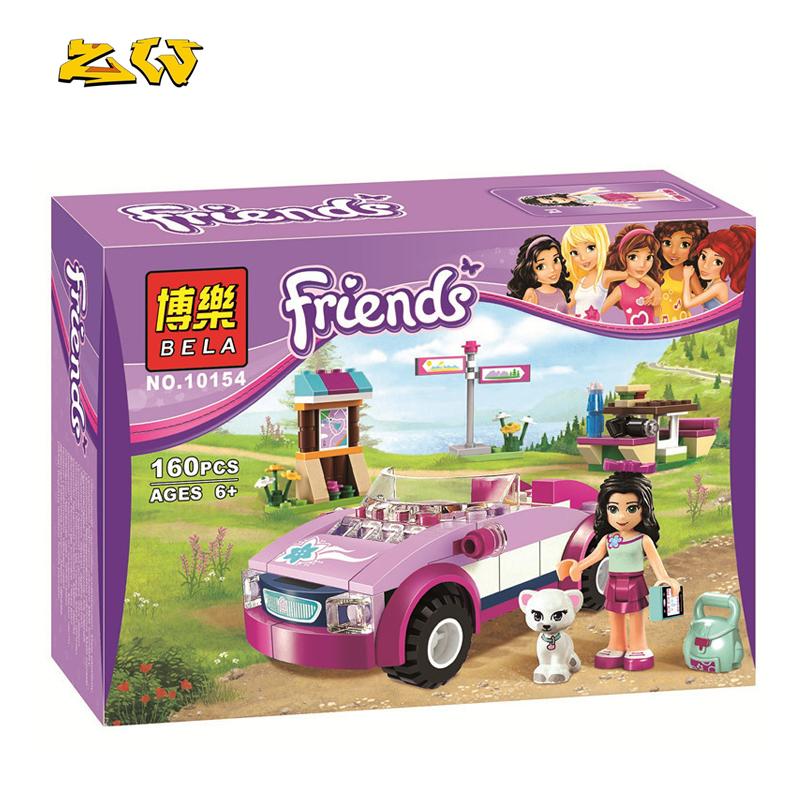 160pcs ZW 10154 Friends Emmas Sports Car Model Building Blocks Assemble the blocks girl Toy for children Compatible with Legoe<br><br>Aliexpress