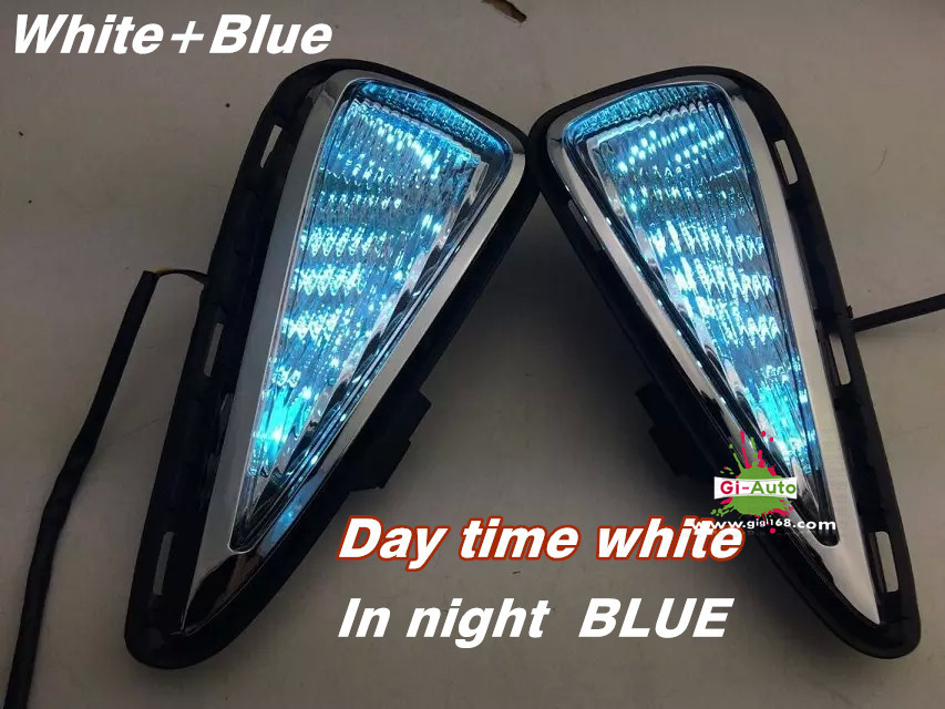 For Toyota 2015 new Camry OEM STYLE LED DRL day running light with signal light function and blue led lamp decoration 2p(China (Mainland))