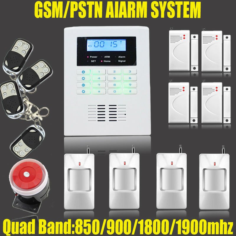 Фотография Wireless GSM and PSTN alarm system, with 99 Wireless defense zone and 2 wired zones,russian and english voice free shipping