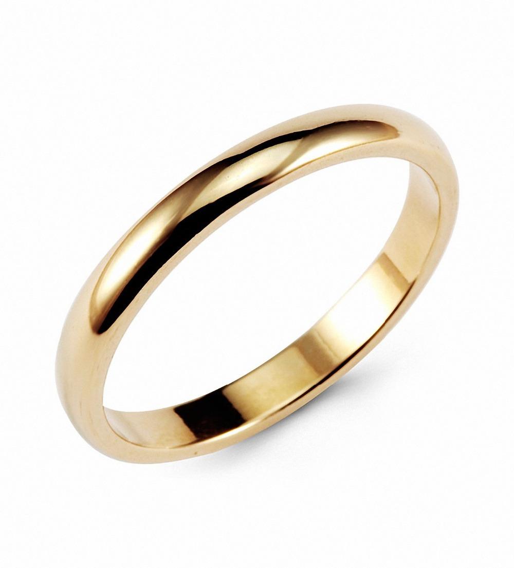 hanlob jewelry gold classic tungsten ring 3mm classic