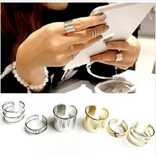 New Arrive 2013 Metal Rings Finger Opening 1 set J004 - MENGJIQIAO -Rose Jewelry Store store