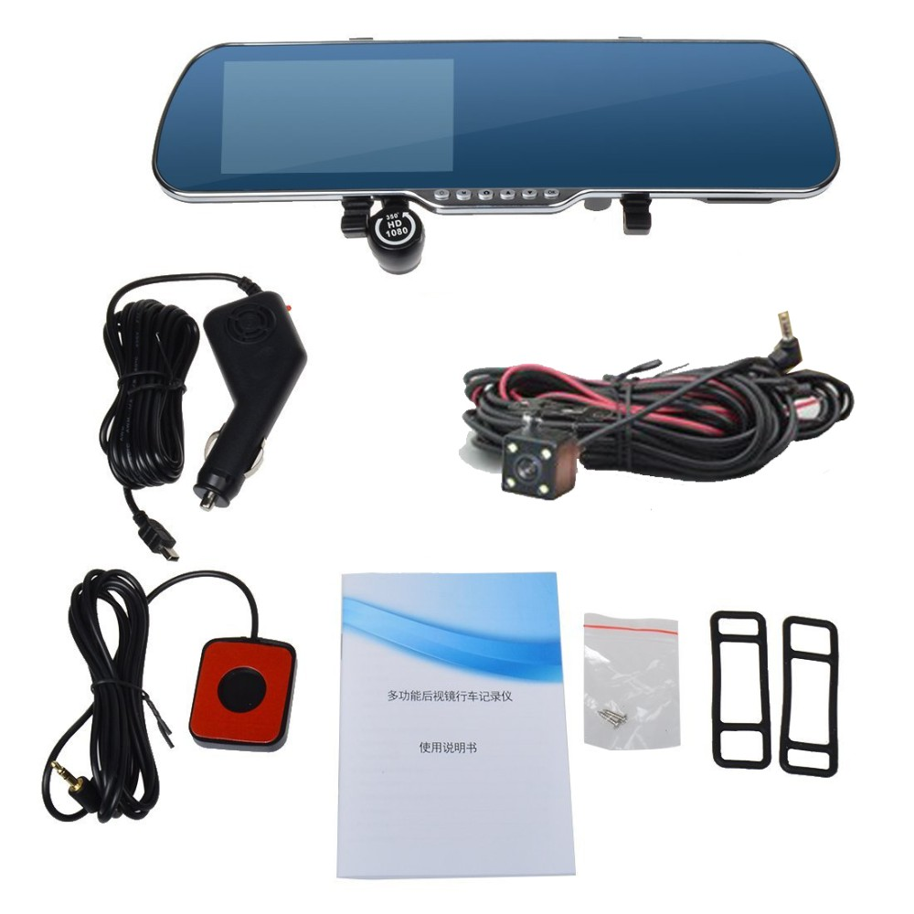 "New 5.0"" Touch Android  Radar Detectors dash camera parking car dvr Rearview mirror video recorder Truck Vehicle gps Navigator"