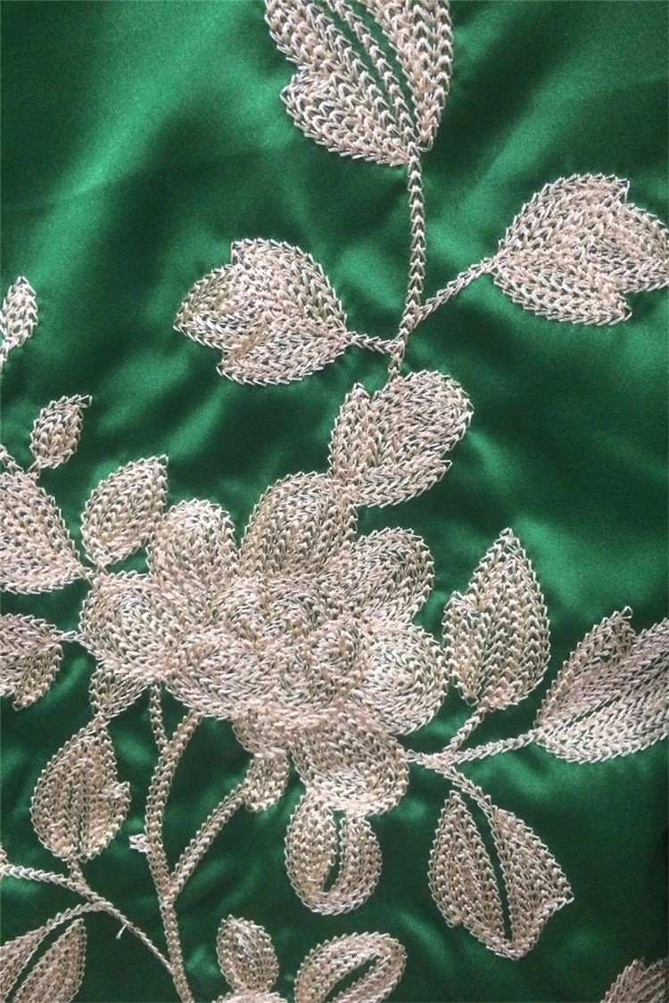 High Quality Fashion Women Floral Bomber Jacket 2016 Female Green Silk Embroidery Ladies Bomber Jackets
