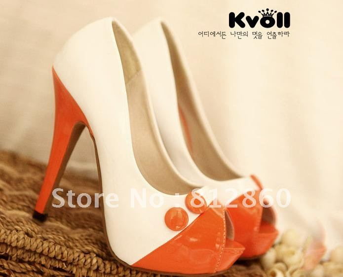 2012 designer shoes in a high waterproof han edition nightclubs with gourd ladle shoes fish mouth single shoes(China (Mainland))