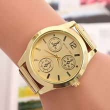 3 decoration circle Arab number quartz watch men watch women birthday gift simple alloy Wristwatches green gold lovers