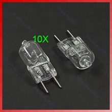 Free Shipping 10pcs/lot for G8 Base JCD Halogen Light Bulb 120V 20W 20 WATT(China (Mainland))