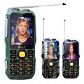 DBEIF D2016 Dual flashlight FM 13800mAh mp3 mp4 power bank Antenn Analog TV Rugged mobile phone