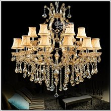 Large Lobby crystal chandelier light hanging lamp Maria Theresa Crystal hotel lighting  MD8475C-L12+6   D1000mm  H1000mm(China (Mainland))