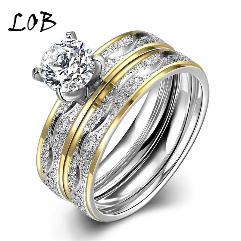 Fashion Gold Silver Plated Stainless Steel Jewelry Titanium Rings For Women Men Wedding Band Engagement Party Ring Man R063(China (Mainland))