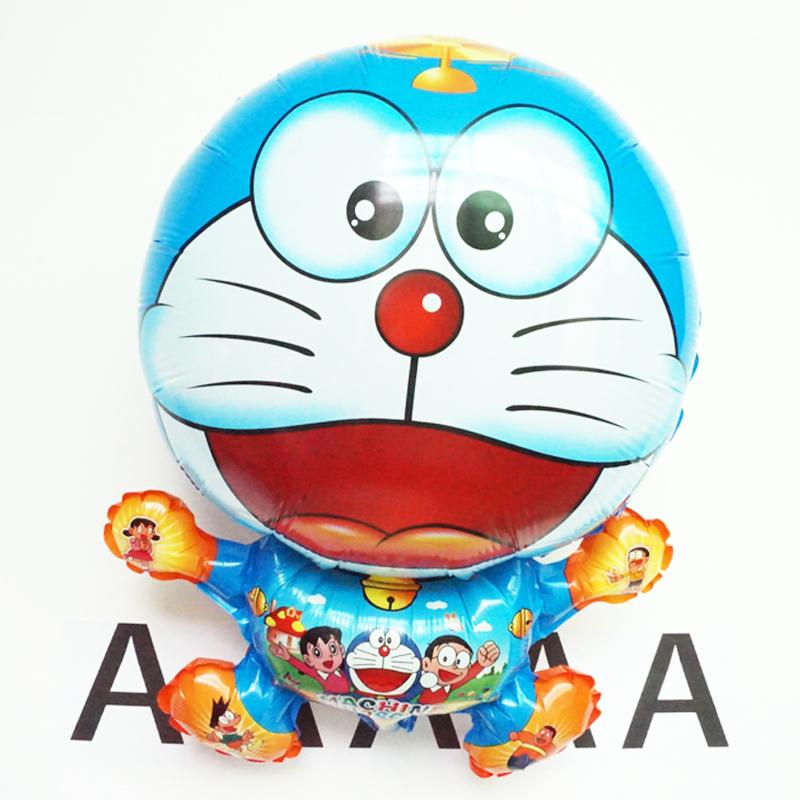 50pcs MINI cute Doraemon balloon 45*64cm Cats foil balloon birthday party decor Duo a dream mylar balloons baby toys globos(China (Mainland))