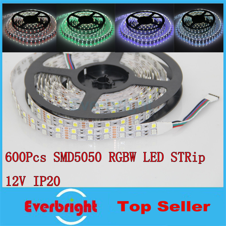 25M/lot Super Bright SMD 5050 Double Row RGBW LED Strip 120LED/M No Waterproof Flexible LED Strip Light 5M/Roll 5 Rolls(China (Mainland))