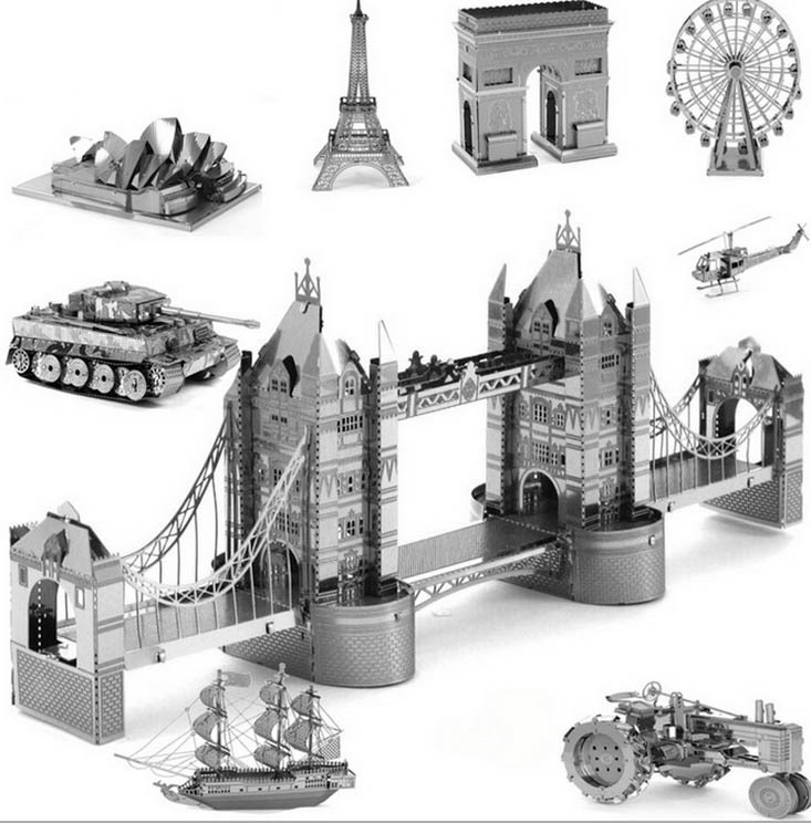 3D puzzles for adults 2015 Promotion Russia Brazil silver 3D Nano metal DIY brain board games educational toys for kids Gifts(China (Mainland))