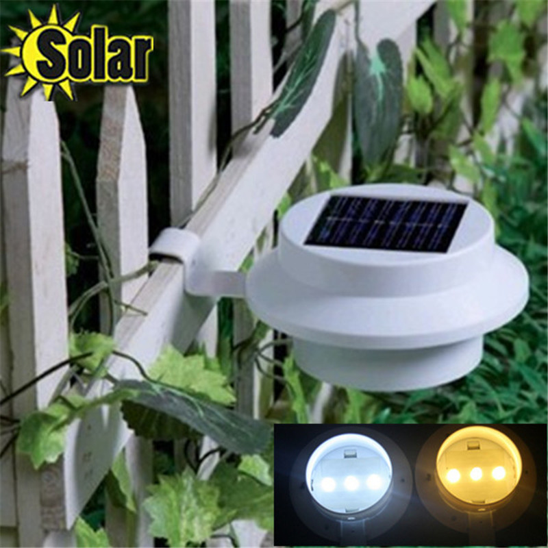 2pc lot led solar powered fence gutter solar light leds. Black Bedroom Furniture Sets. Home Design Ideas