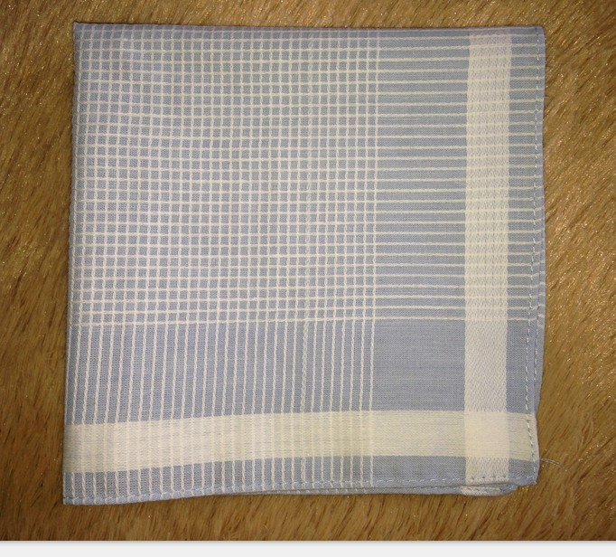 50pcs/lot 30*30cm 100% cotton high Quality plaid Handkerchief For Men Gift Free Shipping Wholesale(China (Mainland))