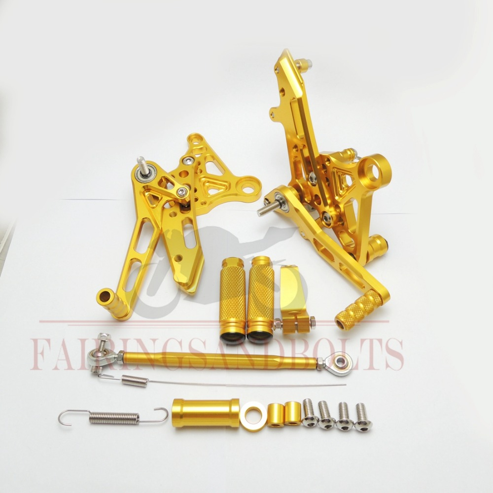 Gold Motorcycle Footrests Rearset Rear Sets Footpegs Honda MSX125 2013-2015 2014 CNC Adjustable Foot Set - Auto Switch Sensor store