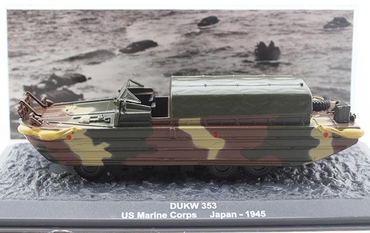 rare IXO / Altaya 1/72 American GMC DUKW-353 wheeled amphibious truck model Alloy military model<br><br>Aliexpress