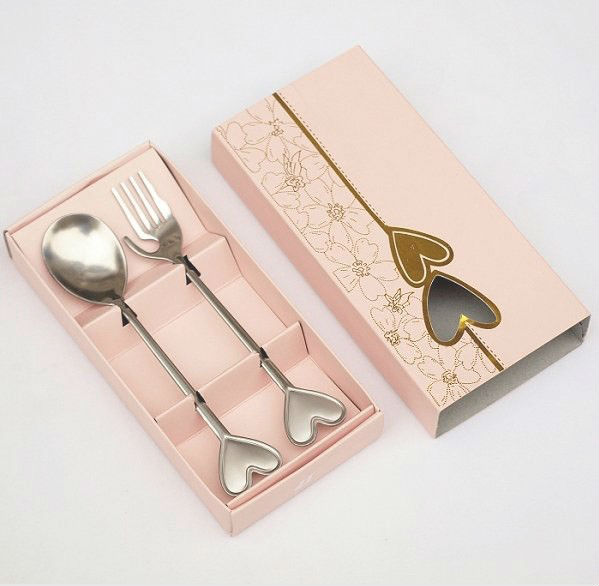 GAGA ! Wedding supplies stainless steel fork spoon married tableware gift /Creative wedding gift/birthday gifts,45pcs/lot,QQ-7-1(China (Mainland))