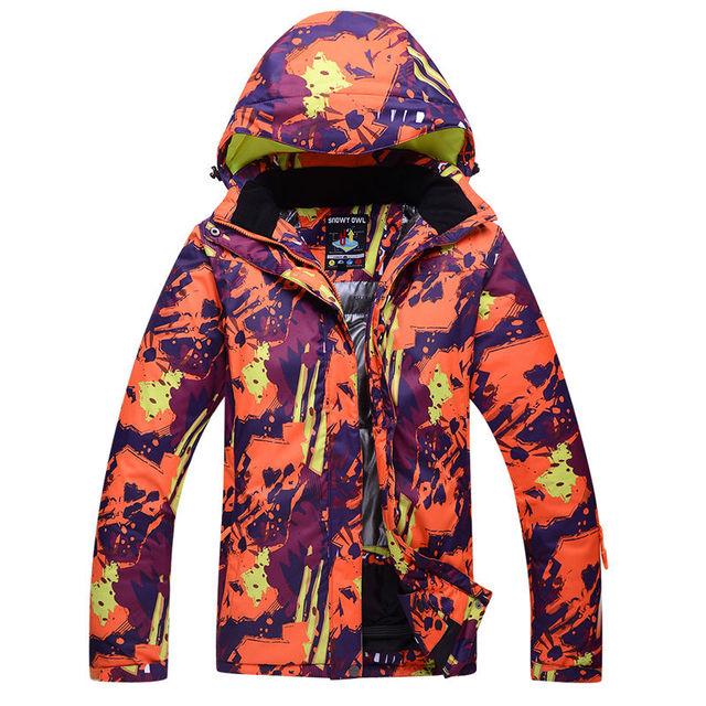 БЕЛАЯ СОВА Открытый водонепроницаемый windrpoof набор лыжи куртка и штаны бесплатная доставка мужская или женская горные лыжи сноуборд костюм