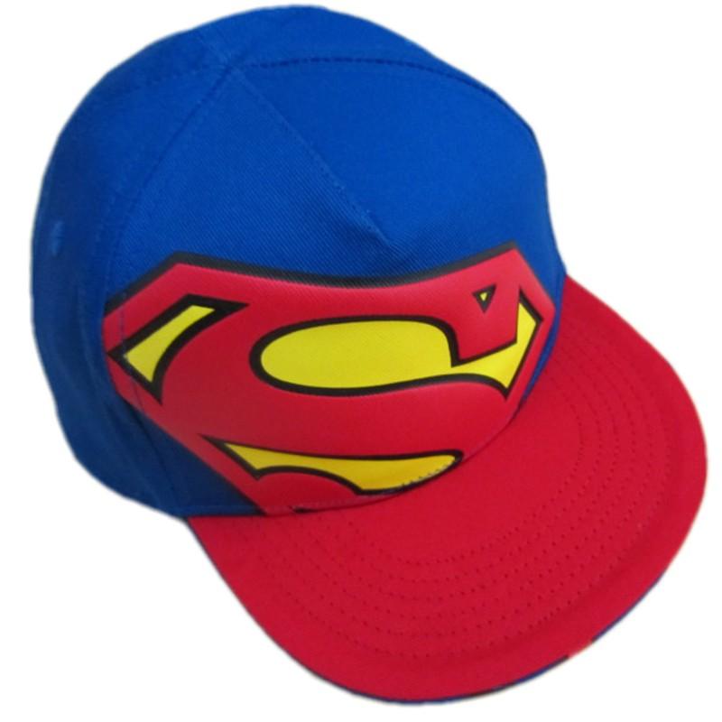 Superman Boy Baseball Cap Snapback Kids Brand Cotton Hat Fashion Children Cap Fashion Baby Hats Photography Props(China (Mainland))