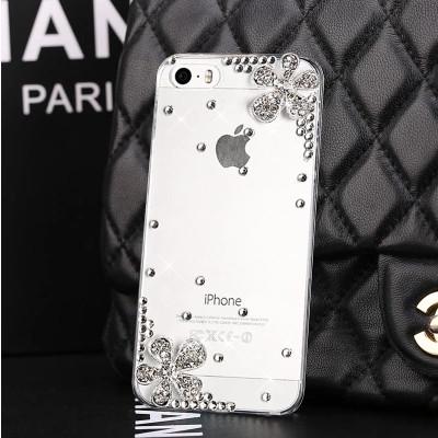 Luxury Rhinestone diamond Flower Bling Transparent Phone Cover For LG Nexus 5 Nexus 5X Bello 2 JOY Spirit 4G LTE V10 Hard case(China (Mainland))