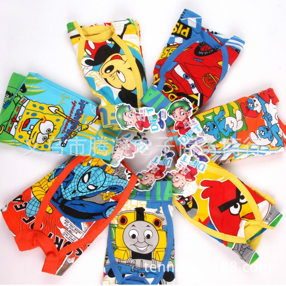 Free shipping 5 pcs high quilty cotton cartoon boxer boy children kid boxers boys cartoon boxers seven pattern(China (Mainland))
