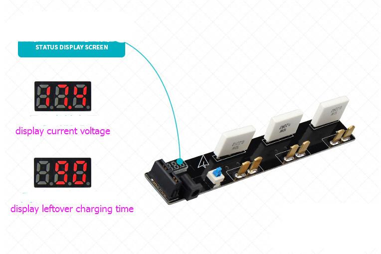 DJI Phantom3 Accessory Battery Parrallel Charger Board 3 Sockets For DJI Battery