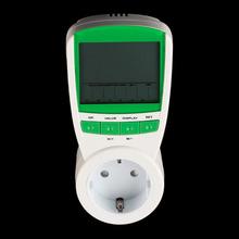 EU US UK Plug Electric Energy Saving Power Meter Consumption Watt Volt Amp Frequency Monitor Analyzer 230V 50Hz Free Shipping(China (Mainland))