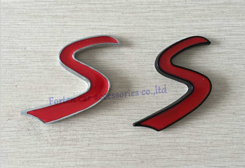 Car S Rear Trunk Emblem Metal Red 3D Letter Sticker Auto Tail Badge Nameplate Logo(China (Mainland))
